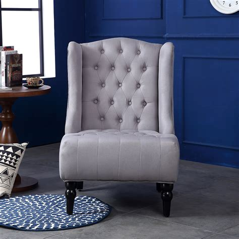wingback accent chair tall high back living room tufted wingback accent chair tall high back living room tufted