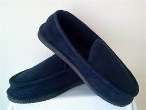 navy blue corduroy house shoes loox slippers new size 8 9