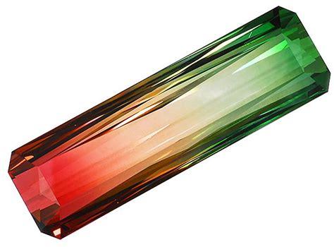 Bi Color Tourmaline bi color tourmaline weighing 50 cts bi color