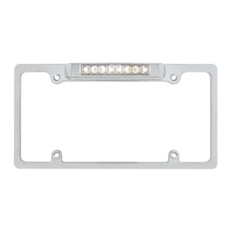 brake light license plate frame chrome deluxe led license plate frame white led third