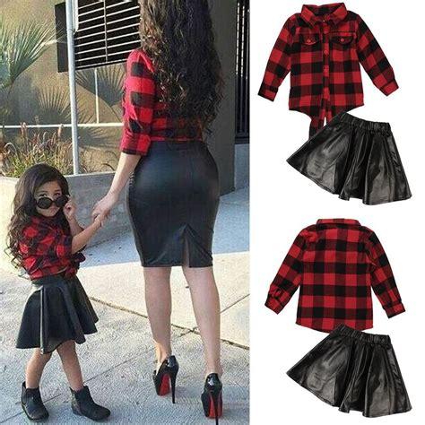 Cat Set T Shirt And Dress 2pcs baby sleeve t shirt leather skirt