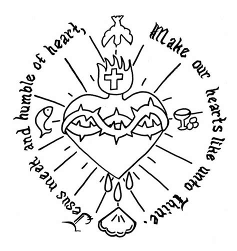 sacred heart coloring page sacred heart catholic coloring page sacred heart