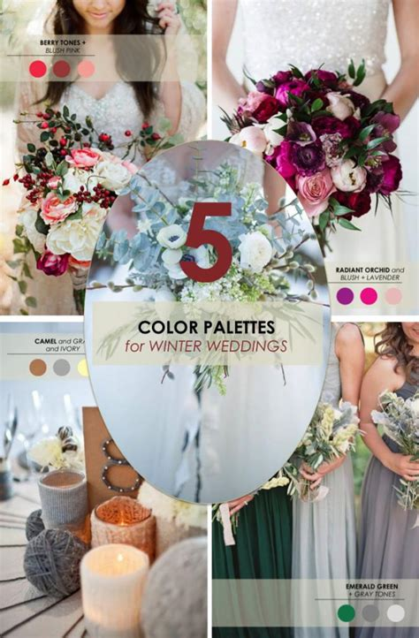 colour themes for a winter wedding 5 winter wedding color palettes weddbook