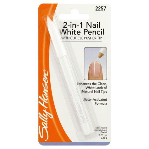 Nail Pencil1 sally hansen nail white pencil 2 in 1 0 03 oz 0 85 g nails cuticle nail