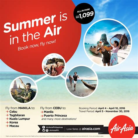 Promo Air summer is in the air with air asia promo pisofare co