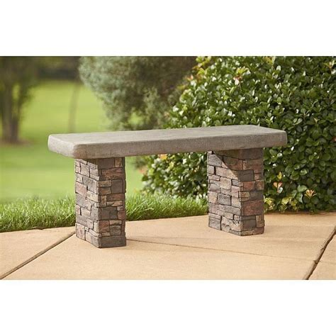 faux stone garden bench outdoor garden faux stone bench seating brick concrete