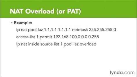 nat tutorial ppt nat overload or pat
