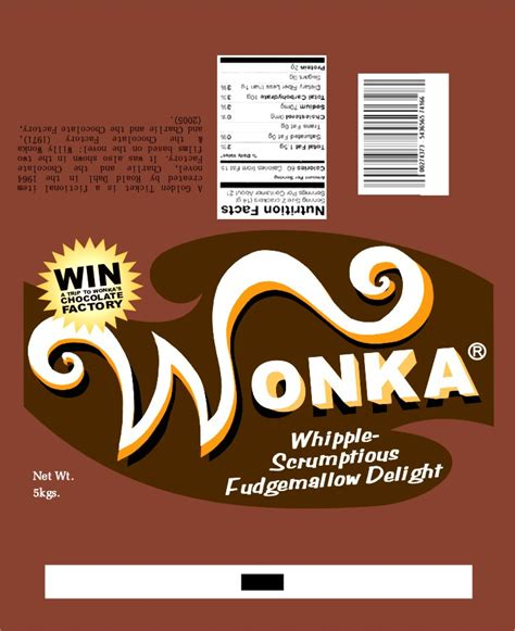 willy wonka bar wrapper template wonka wrapper fudge by jenggakun on deviantart