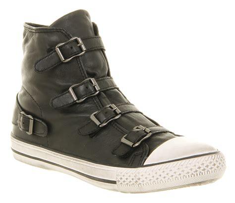 womens ash high top black nappa wax boots ebay