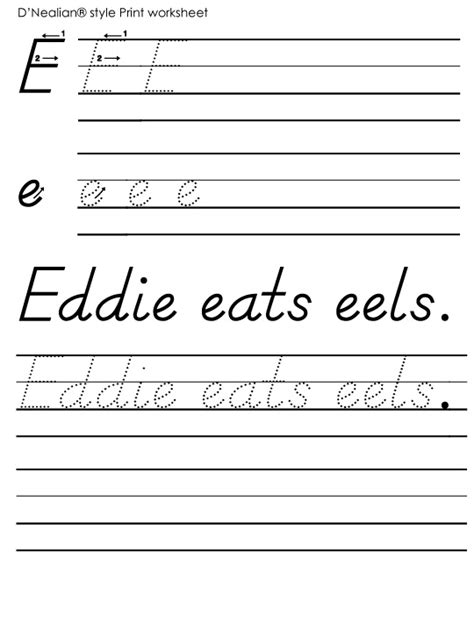 printable handwriting worksheets d nealian d nealian handwriting worksheets printable summer