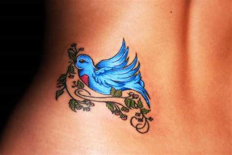 bluebird tattoo designs blue bird lower back designs