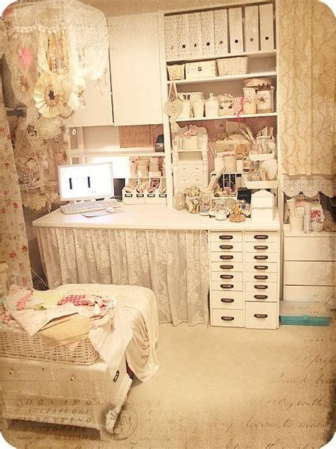 love this shabby chic space craft room ideas pinterest