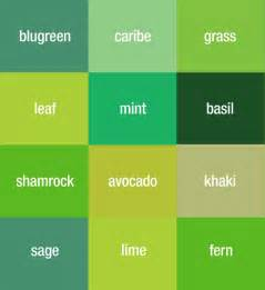 green color chart with names pictures to pin on pinsdaddy