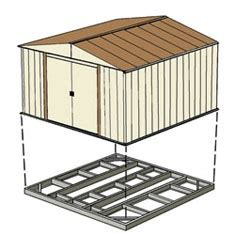 Metal Garden Shed With Base by 301 Moved Permanently