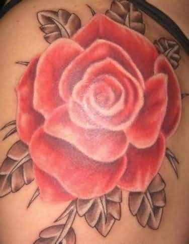 red rose tattoo on shoulder shoulder tattoos on shoulder