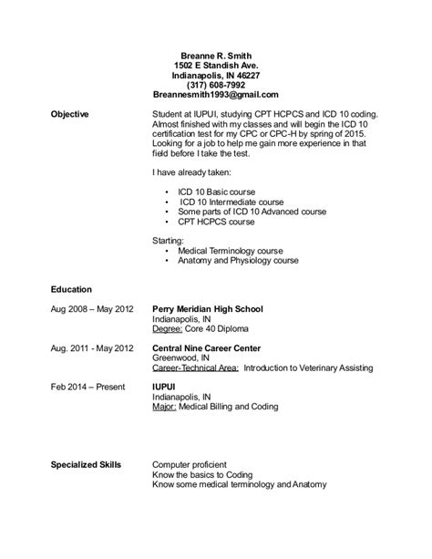 billing and coding resume medical resume resume sample format