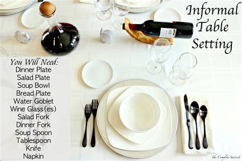 how do you set a table how to set an informal table the complete savorist