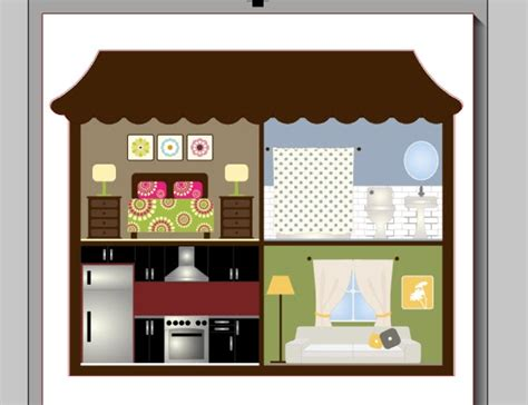 peg doll house wood doll house and peg people with silhouette clothes decor free cut files