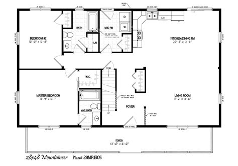 26 X 40 Homes Floor Plans House Design Ideas 28x40 House Plans