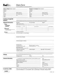 freight claim form template fedex claim form fill printable fillable blank