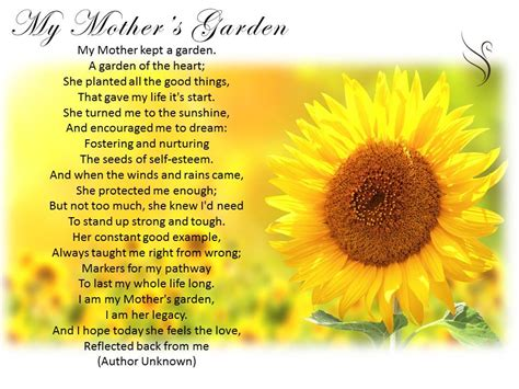 Garden Sayings For Funerals My Kept A Garden Poem She Kept It In