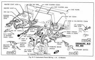 instrument panel wiring diagram g models for 1979 gmc light duty truck part 2 circuit wiring