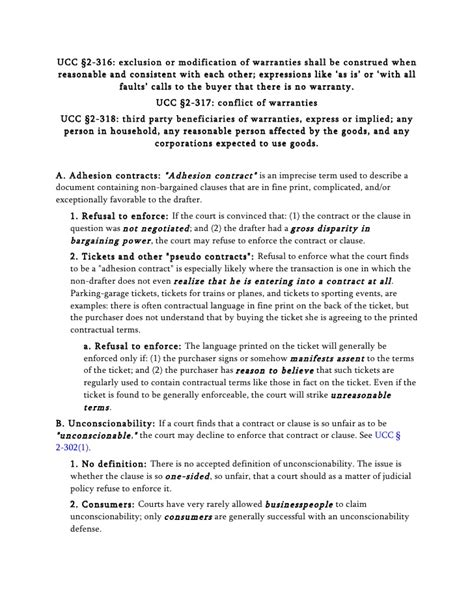Modification Ucc by Contracts Ii Outline Peritz