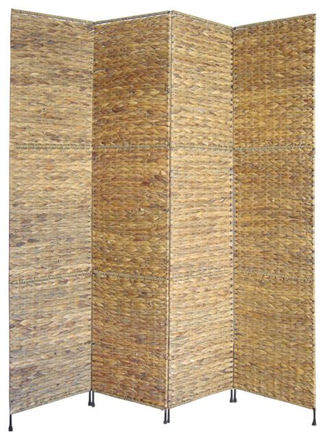 folding screens room dividers jakarta water hyacinth folding screen tropical screens
