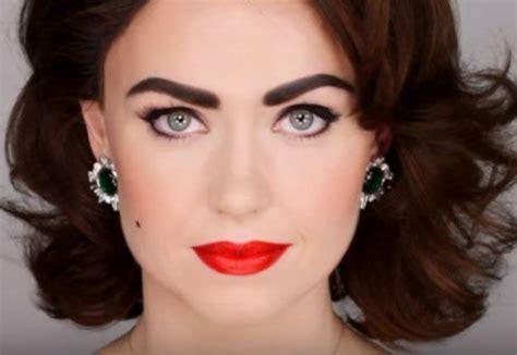 tutorial makeup vintage vintage glam elizabeth taylor inspired makeup tutorial