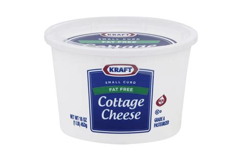 Calories In A Cottage Cheese by Kraft Small Curd Free Cottage Cheese 16 Oz Tub