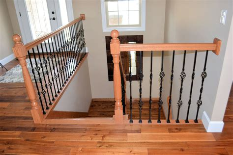 Decorative Balusters For Stairs Wood Stairs With Decorative Metal Balusters 2 Ak