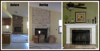 white fireplace remodel diy projects