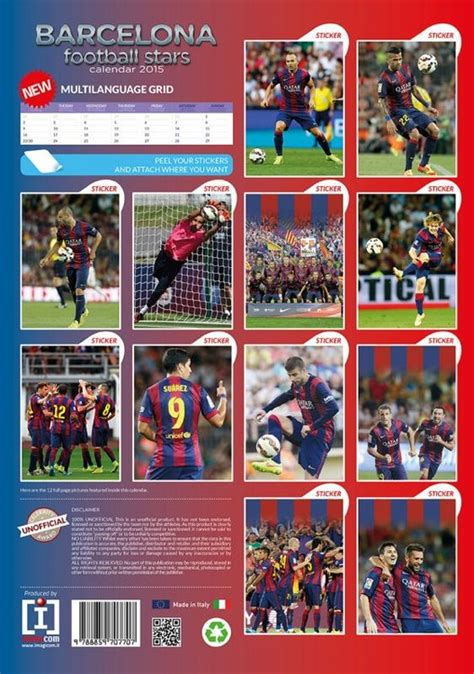Fc Barcelona Calendar Fc Barcelona Calendars 2015 On Europosters
