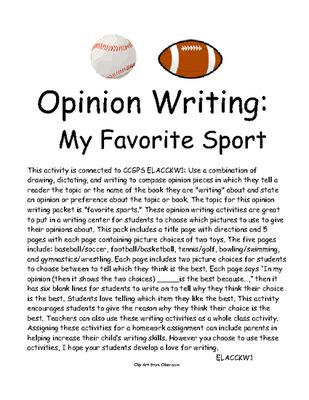 My Favourite Sport Essay by Opinion Writing Favorite Sport Persuasive