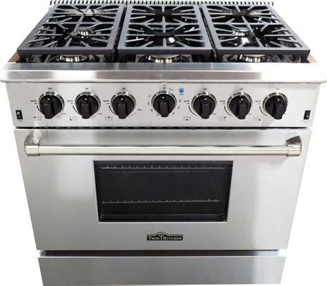 What Is A Gas Range Stove by Thor Kitchen Hdm3601u 36 Inch Freestanding Gas Range With