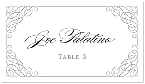 card border template wedding table name card template free wedding diy place