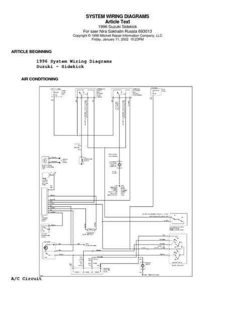 1993 suzuki sidekick wiring diagrams wiring diagram with