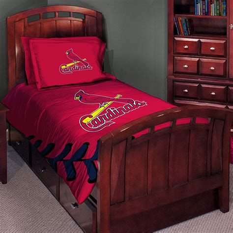 cardinals comforter set st louis cardinals mlb twin comforter set 63 quot x 86 quot
