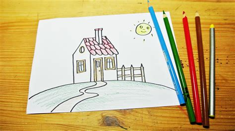 how to draw a house kids pinterest house drawing drawings and how to draw a house for kids youtube