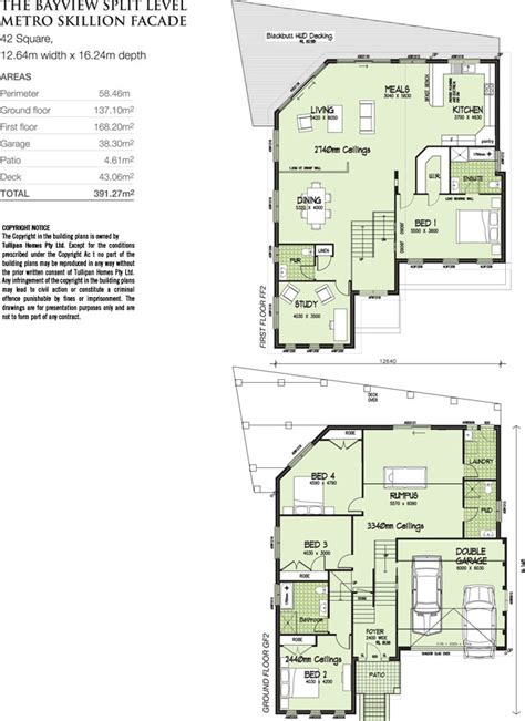house floor plans sloping blocks bayview split level metro skillion facade home design tullipan homes