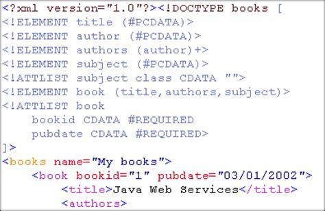 tutorial xml dtd dtd generator