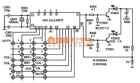 single integrated circuit saa3007p the integrated circuit of single chip emitters lifier circuit circuit diagram