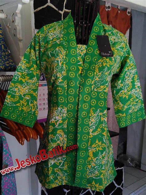 Tunik Batik Shibori blouse batik cap baju kerja b608 batik pekalongan by