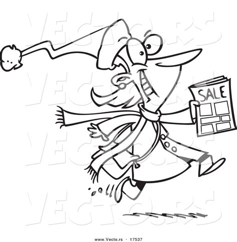 gwangi coloring book for sale vector of a excited black friday shopper running