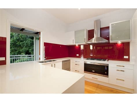 modern  shaped kitchen design  frosted glass