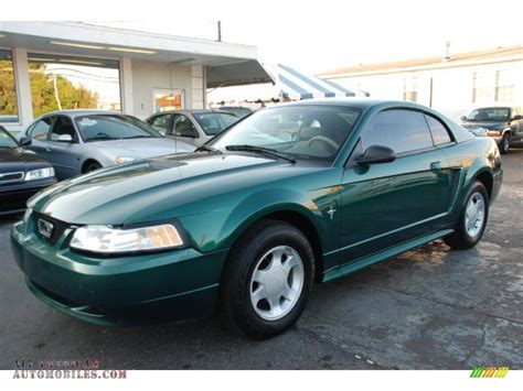 2000 ford mustang v6 2000 ford mustang v6 coupe in green metallic photo