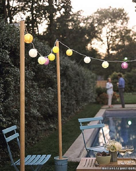 diy bucket posts for string lights let s throw a party