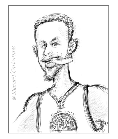 Curry 4 Sketches by Sketch Of Today Stephen Curry T Caricatures