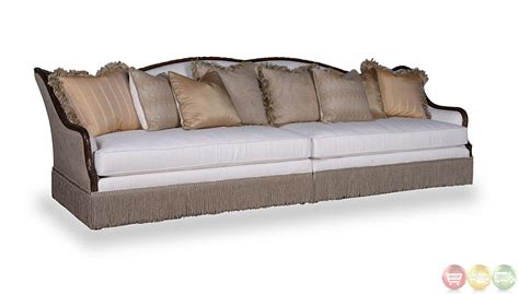 rustic sectional sofas creme transitional rustic walnut sectional sofa living