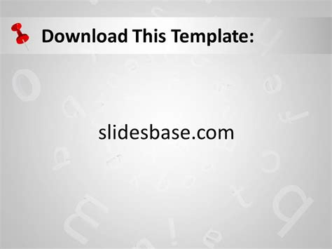 Alphabet Powerpoint Template Slidesbase Letter Template Powerpoint